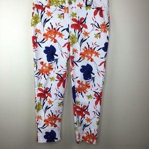 Banana Republic Floral Pants Ankle Length 14